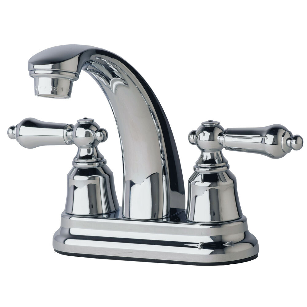 "7 Faucet Finishes For Fabulous Bathrooms: RV/Mobile Home Bathroom Vanity Sink 4"" Centerset Lavatory"