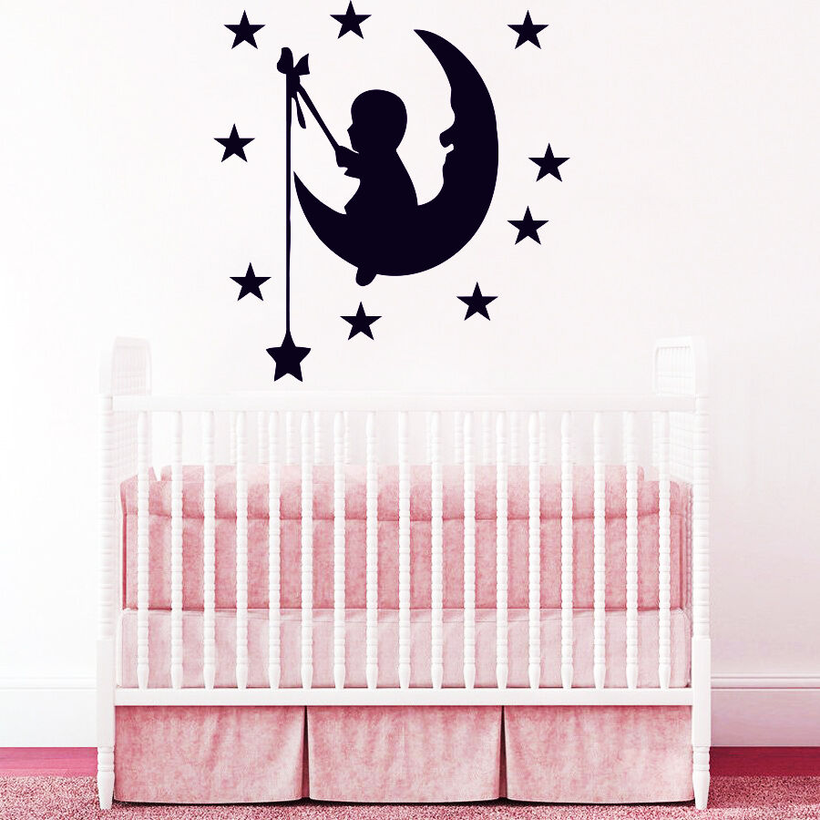 From Seword Wall Art Vinyl Lettering Home Decor ~ Wall decals moon stars decal vinyl sticker nursery baby