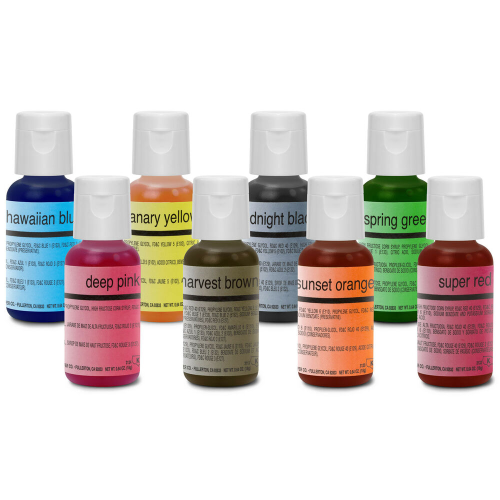 Chefmaster Food Coloring Cake Decorating Paint Set - 8 ...