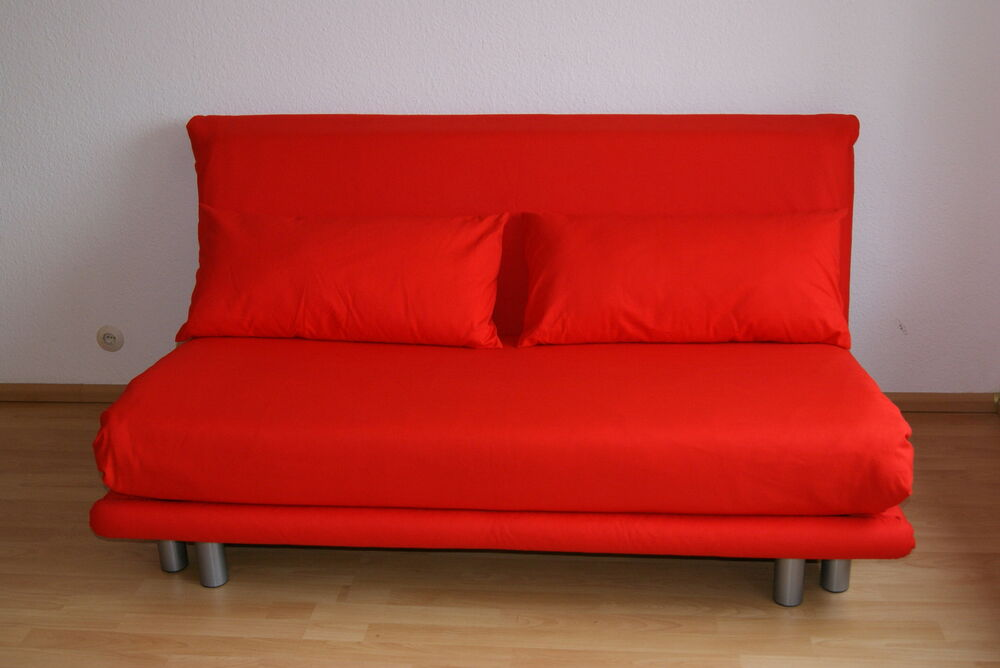 ligne roset multy 3 schlafsofa in knall rot ebay. Black Bedroom Furniture Sets. Home Design Ideas