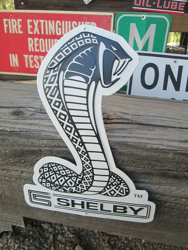 Ford Shelby Truck >> METAL SHELBY COBRA SNAKE FORD MUSTANG SIGNS Metal Display ...