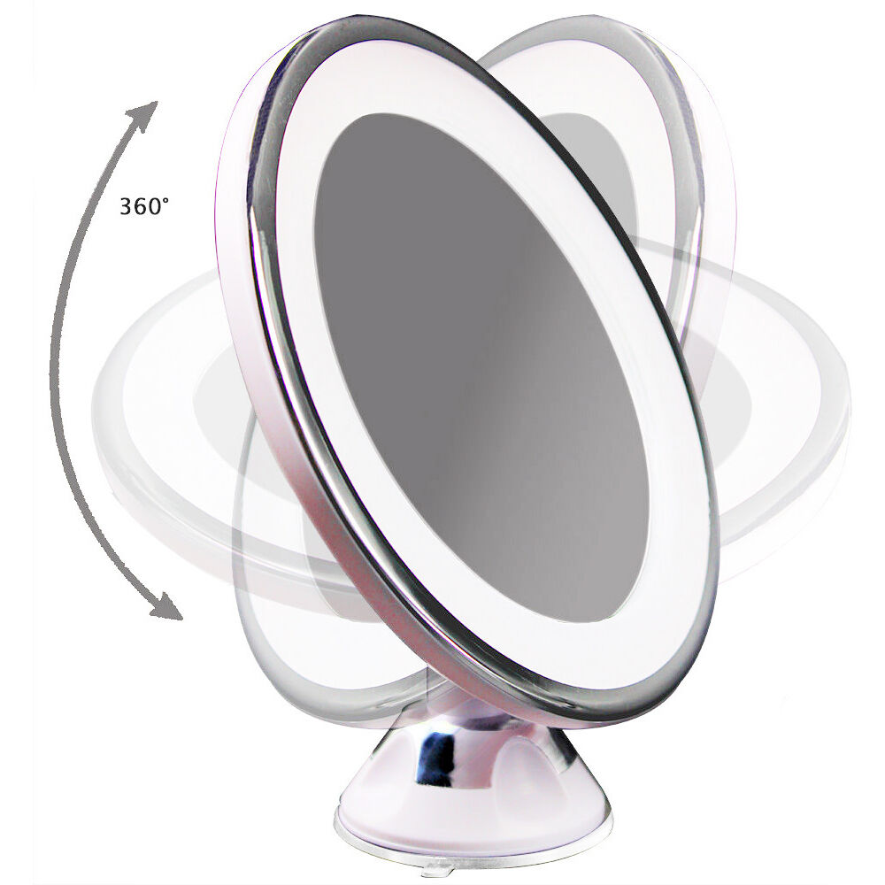 illuminated magnifying mirrors for bathrooms 7x magnifying led illuminated bathroom make up 23527