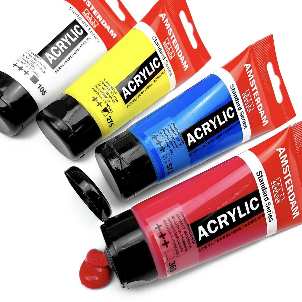 Royal talens primary set of amsterdam acrylic paints for How to use acrylic paints