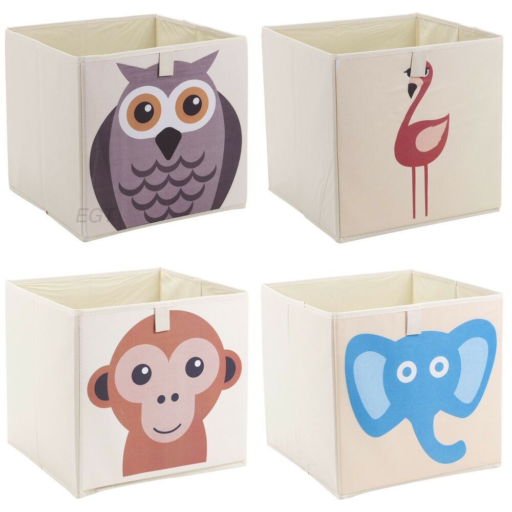 Toy Bin Organizer Kids Childrens Storage Box Playroom: Kids Toy Animal Storage Box Collapsible Non Woven Fabric