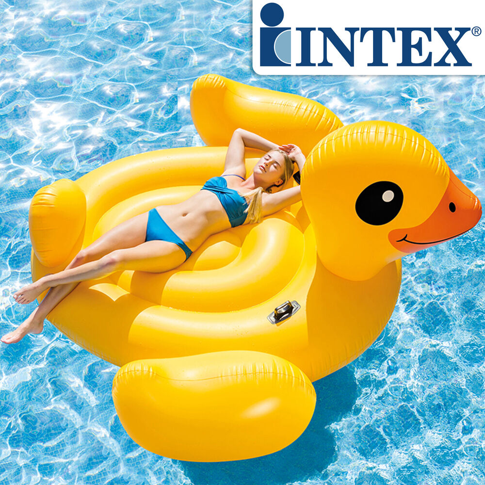 Intex 56286 Badeinsel Ente Schwimmliege Pool Lounge