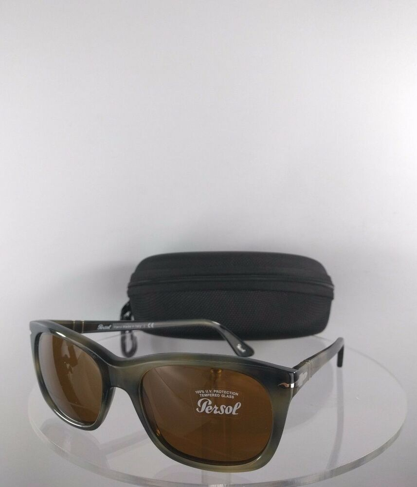 7d8427dc6c3bf Brand New Authentic Persol Sunglasses 3101-S 1017 33 Green Tortoise Frame