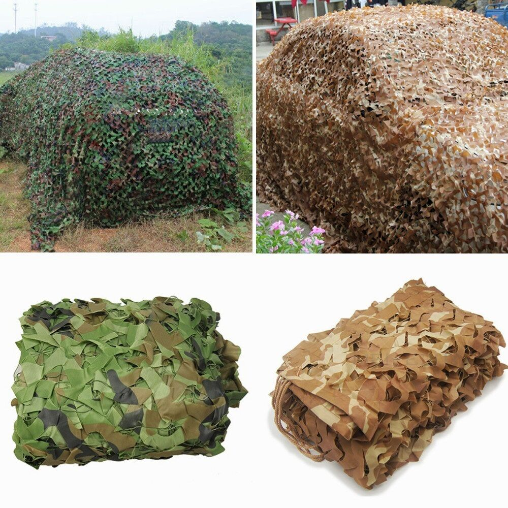 Woodland Desert Leaves Camouflage Camo Army Net Netting