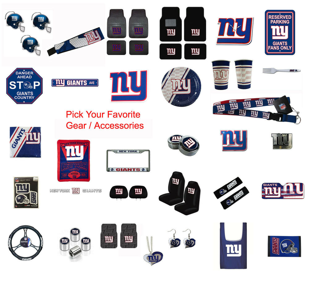 new nfl new york giants pick your gear car truck accessories official licensed ebay. Black Bedroom Furniture Sets. Home Design Ideas