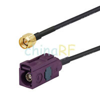 SMA plug male to Fakra D Red jack pigtail cable RG174 15cm for GSM antenna