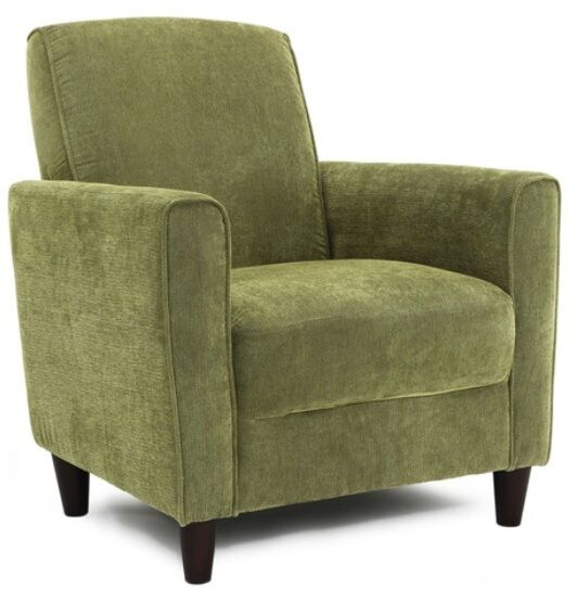 Solid green accent chair club chairs office furniture for Ebay living room chairs