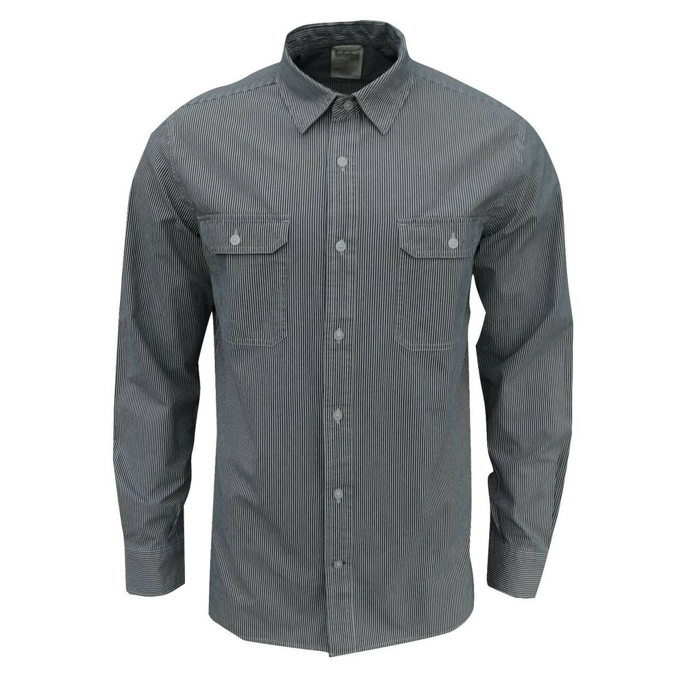 Timberland men 39 s falmouth pinstripe long sleeve shirt blue for Mens long sleeve white shirts