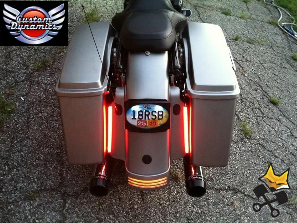 8 Quot Plasma Rod Tail Light Kit For Harley Electra Road