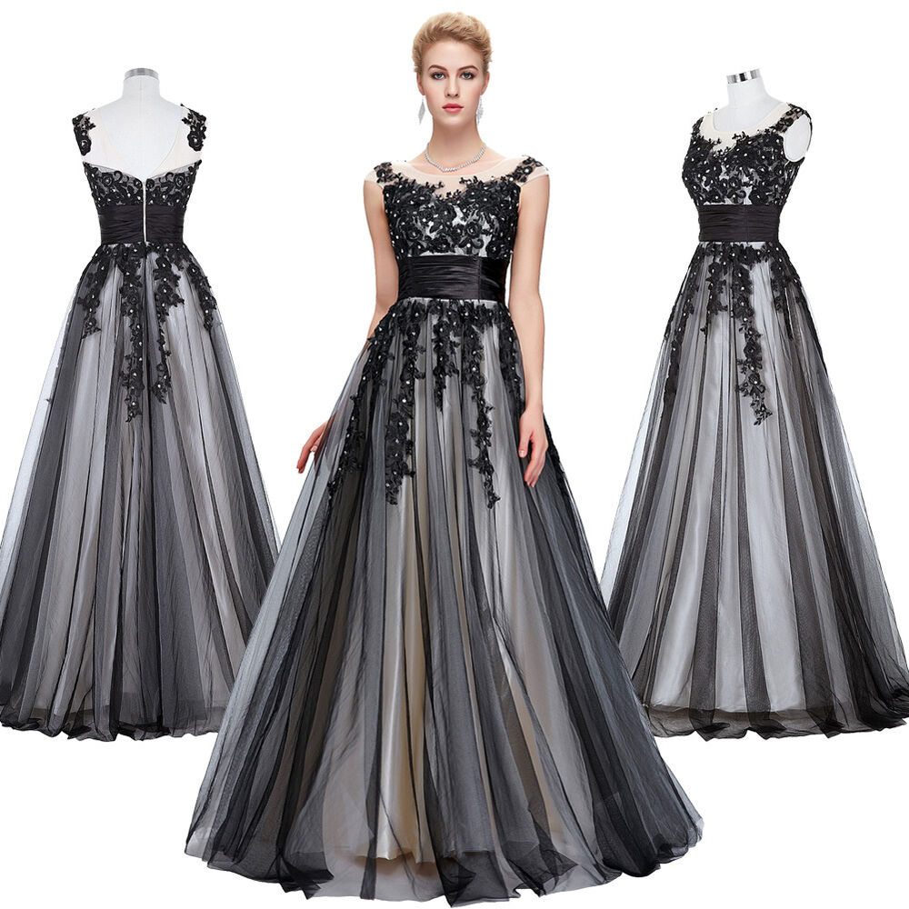 Lace Tulle Vintage Masquerade Long Ball Gown EVENING