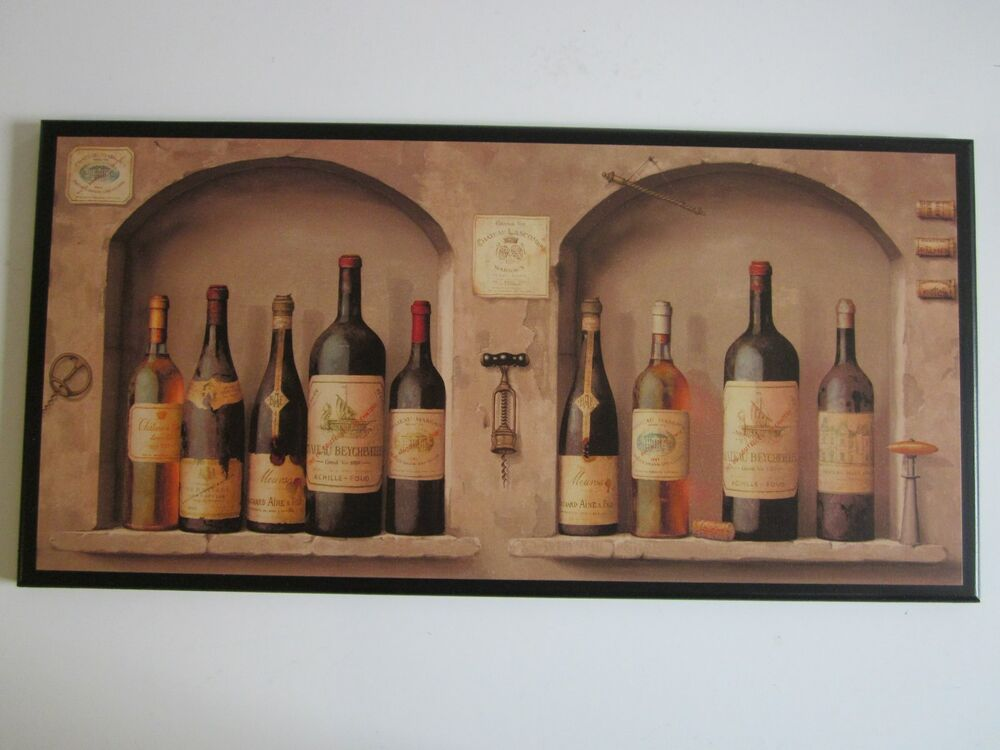 Wine kitchen wall decor plaque tuscany italian french for Kitchen wall art sets