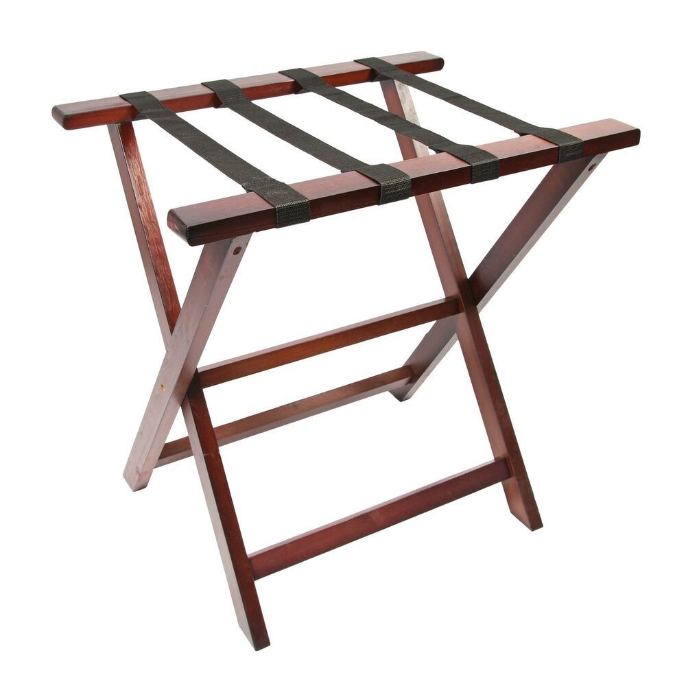 Woodluv Pine Wood Foldable Luggage Rack Hotel Bedroom
