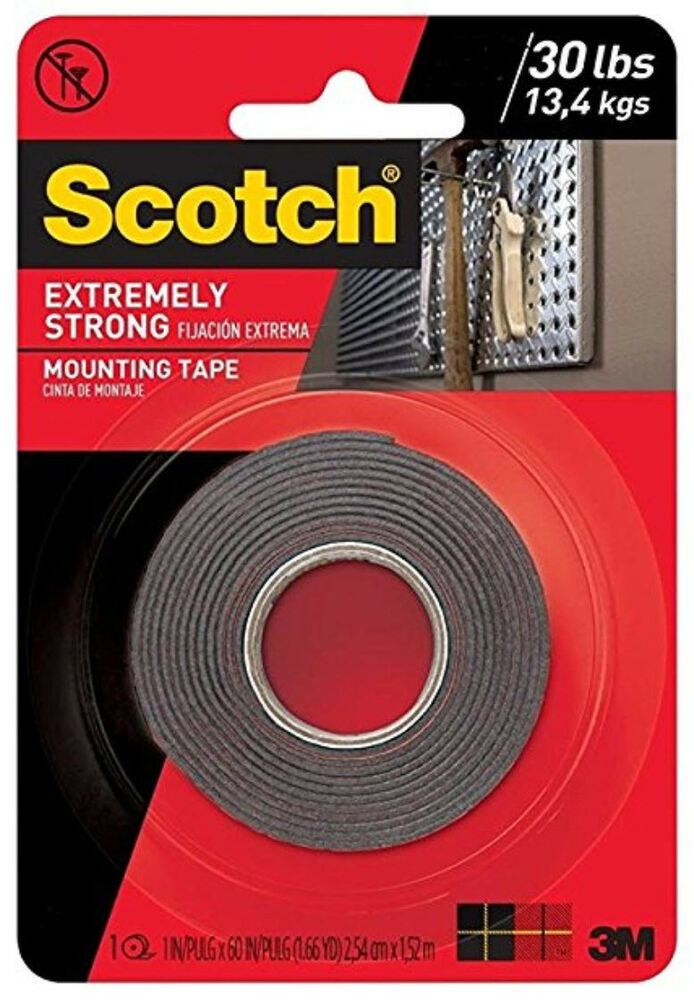 3m Scotch Extremely Strong Double Sided Mounting Tape Indoor Outdoor 1 X 60 Ebay