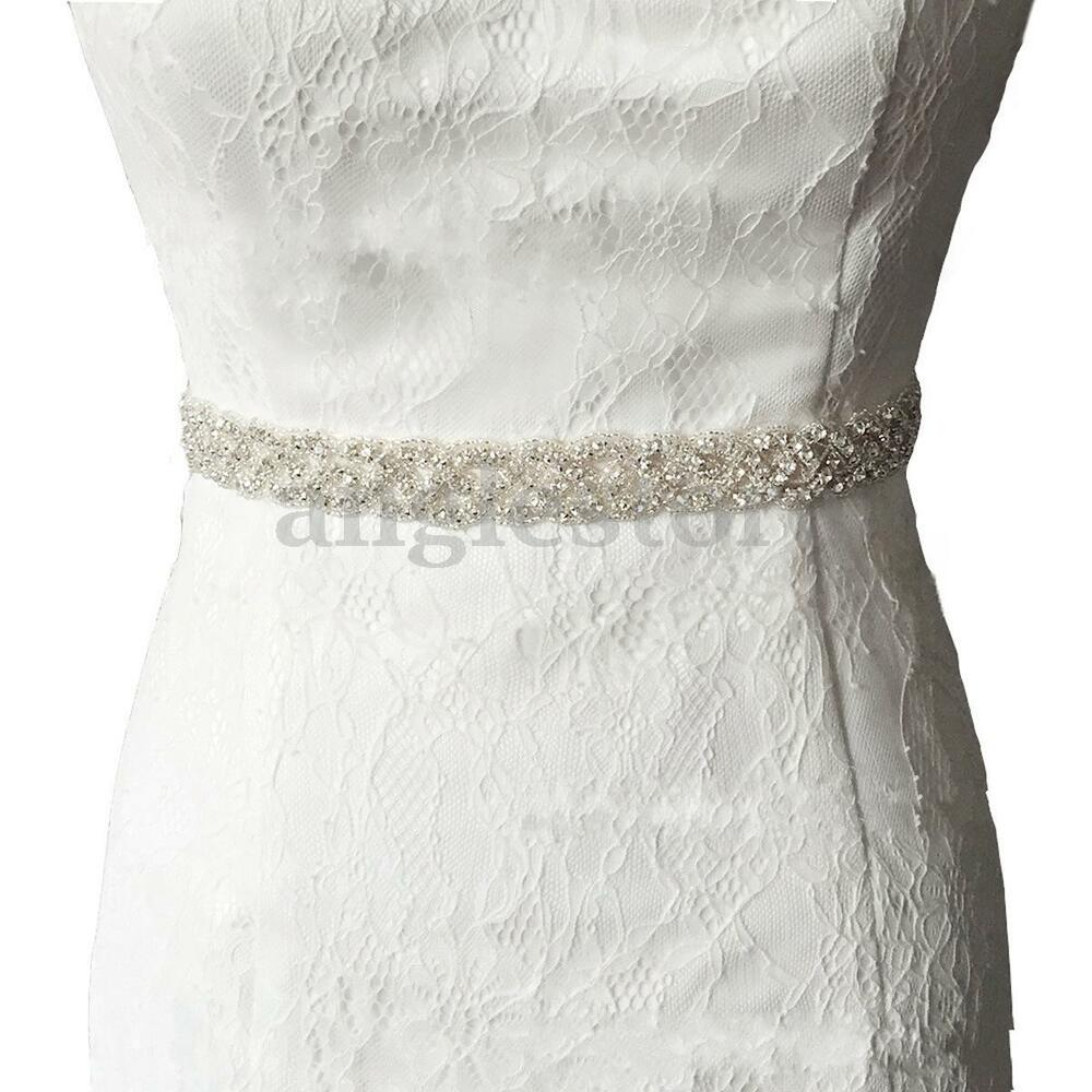 Rhinestone bridal bridesmaid wedding waistband waist sash for Rhinestone sash for wedding dress