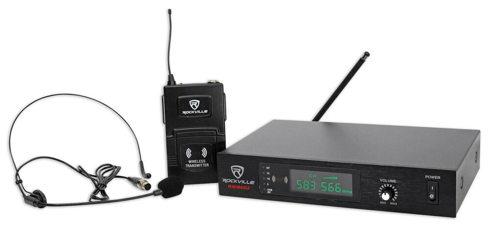 rockville rwm60u professional uhf headset guitar wireless microphone system ebay. Black Bedroom Furniture Sets. Home Design Ideas