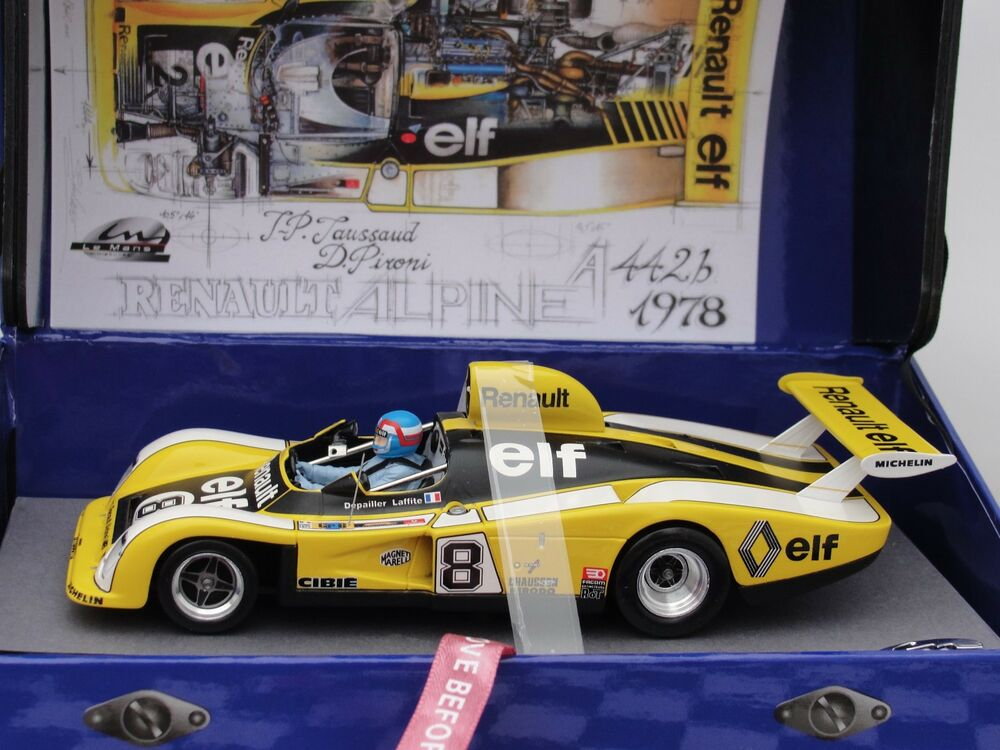 le mans renault alpine a442 8 le mans 1977 132077 8m 1 32 bnib latest out ebay. Black Bedroom Furniture Sets. Home Design Ideas