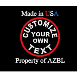 CUSTOM EMBROIDERED 3'' ROUND SAYING EMBROIDERY PATCH MADE IN USA BIKER VEST PATCH