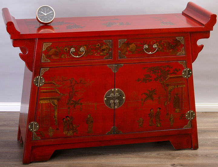 Wohnzimmer Rot Gold : Sideboard rot gold Buffet ...