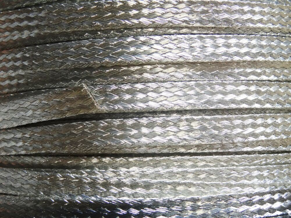 Braided Copper Wire : Ft flat braided tinned copper wire quot wide ground