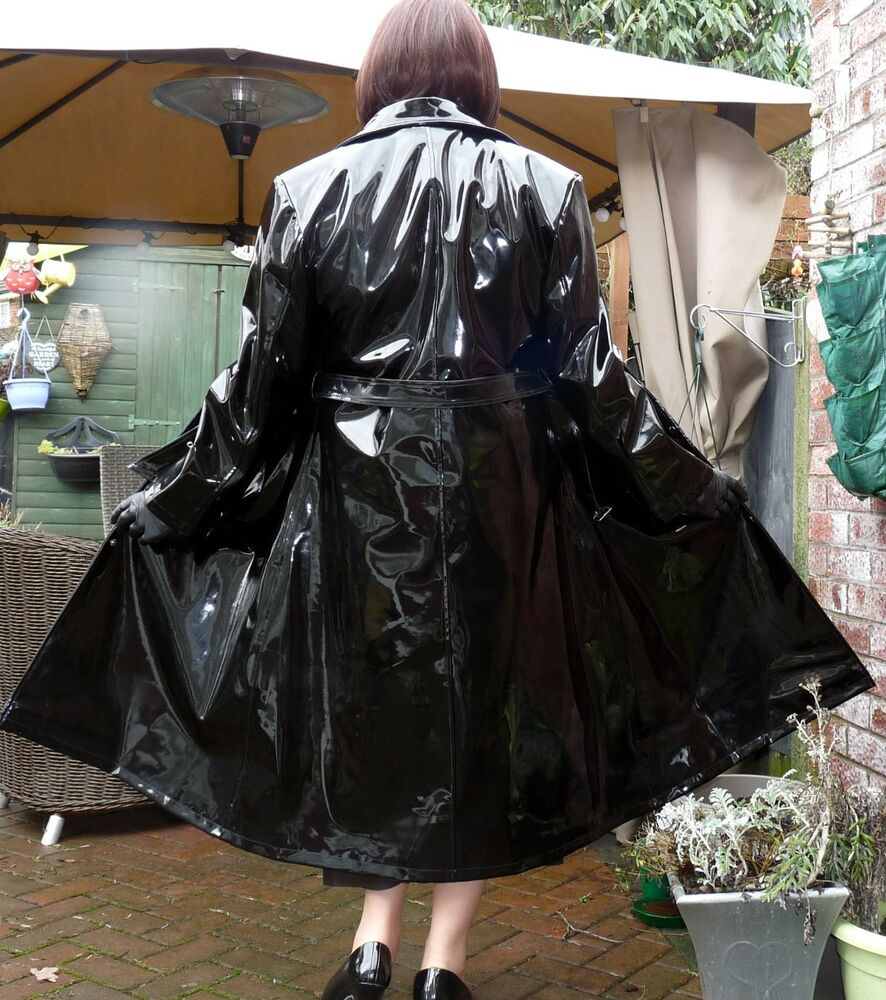 Vinyl Raincoats On Ebay Ra01 Pvc Regenmantel Zweifarbig In