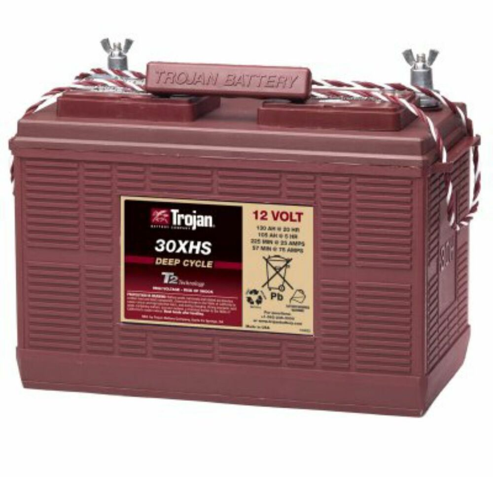 new trojan 30xhs 12v 12 volt golf cart battery rv marine ebay. Black Bedroom Furniture Sets. Home Design Ideas