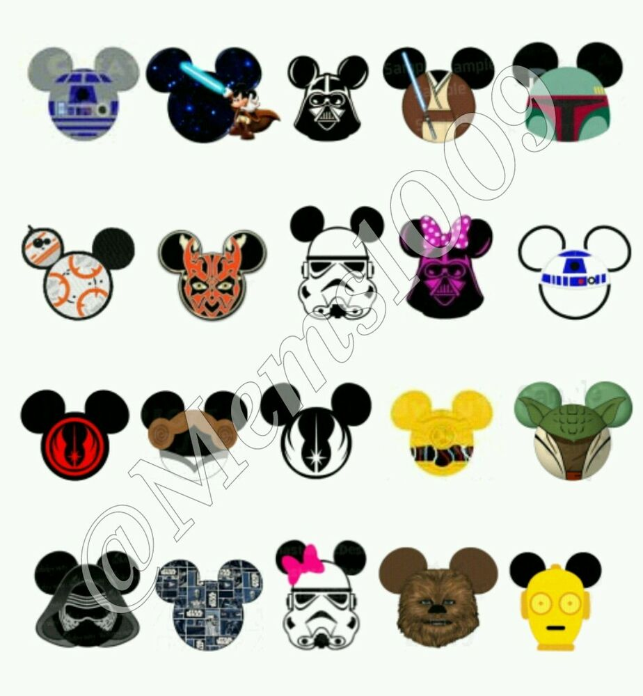Star Wars Mickey Mouse ear nail Decals ( water decals ...