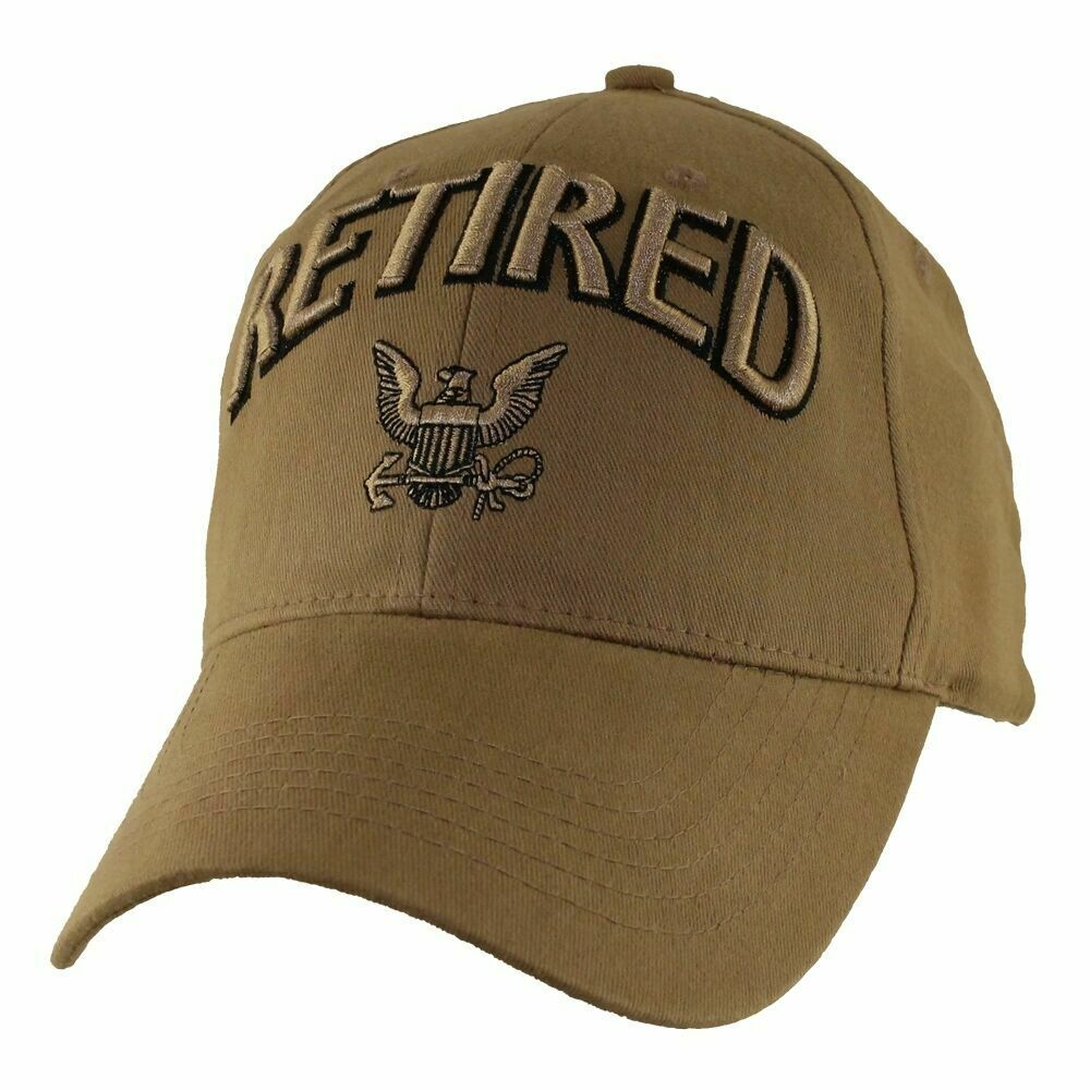 9c79039765809 Details about NEW U.S NAVY RETIRED COYOTE BROWN HAT 3D EMBROIDERED RAISED  LETTERS BALL CAP