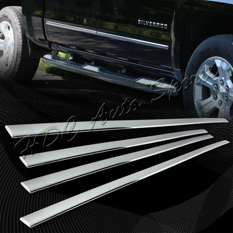 For 2014-2016 GMC Sierra 1500 Chrome ABS Plastic Body Side
