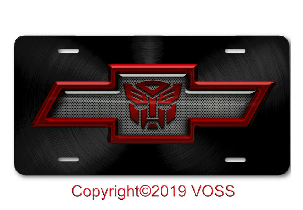Chevy bowtie license plate ebay chevy chevrolet bowtie transformers autobot aluminum car truck license plate tag buycottarizona
