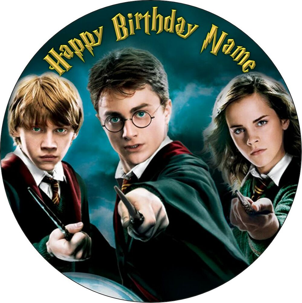 EDIBLE Harry Potter Birthday Party Cake Topper Wafer Paper ...
