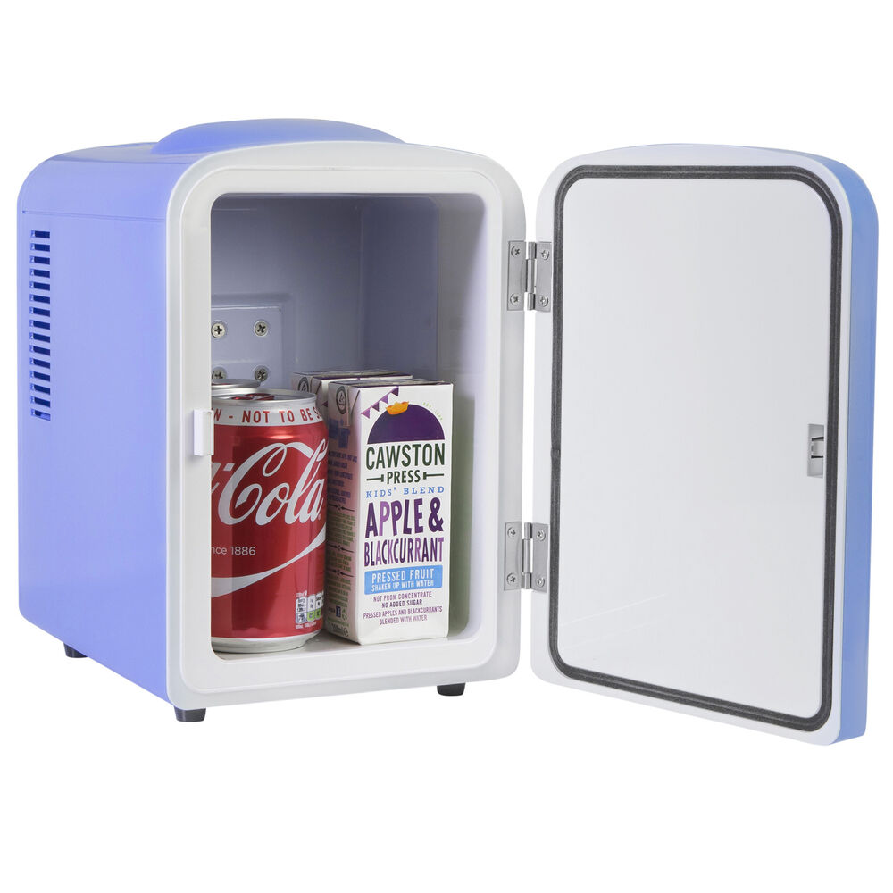 iceq 4 litre portable small mini fridge for bedroom mini cooler warmer in blue ebay. Black Bedroom Furniture Sets. Home Design Ideas