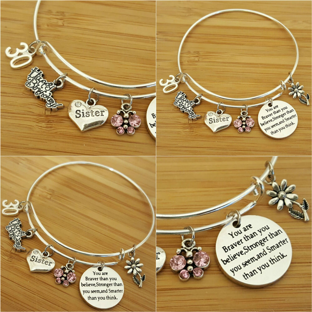 Personalised BIRTHDAY Gifts Bracelet 15th 16th 18th 21st