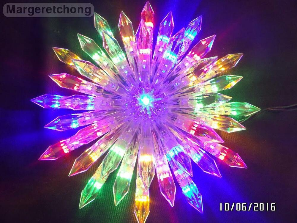 ge 37 led color changing choice starburst christmas tree topper ebay. Black Bedroom Furniture Sets. Home Design Ideas