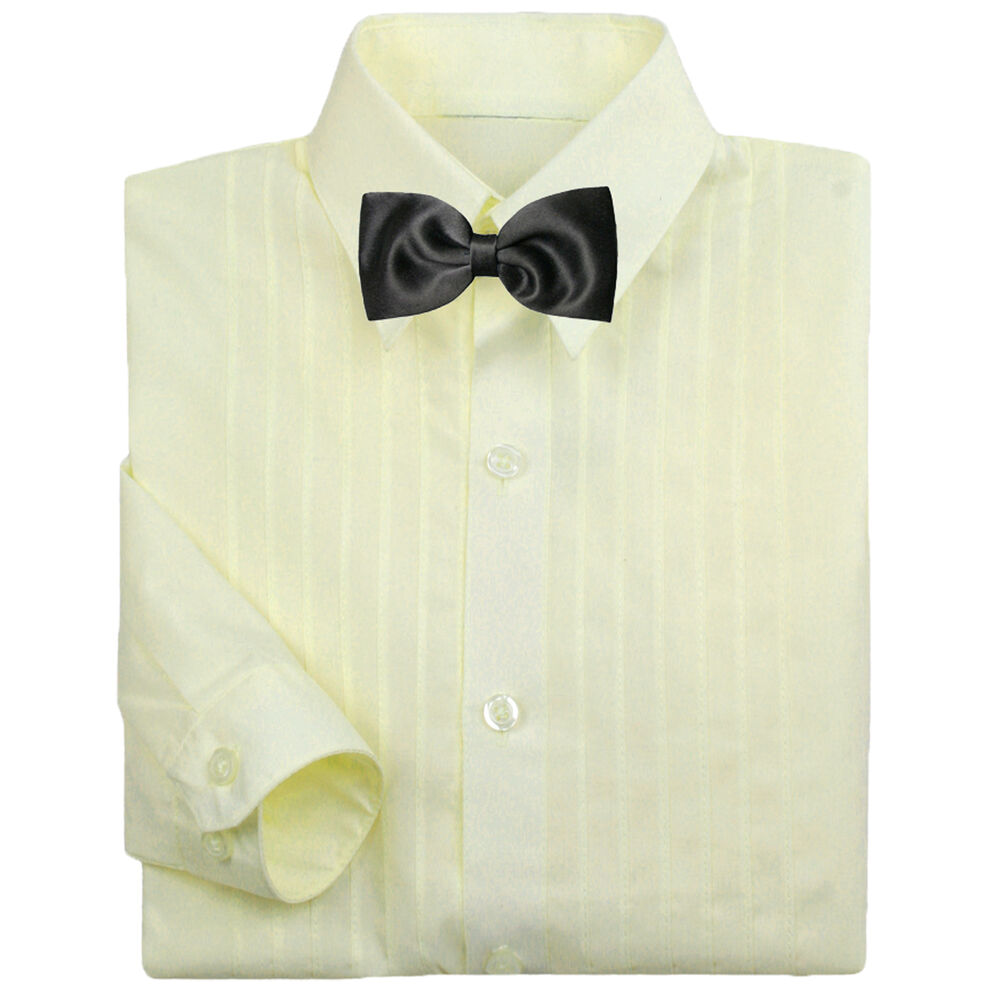 Baby boy formal tuxedo suit ivory button down dress shirt for Baby shirt and bow tie