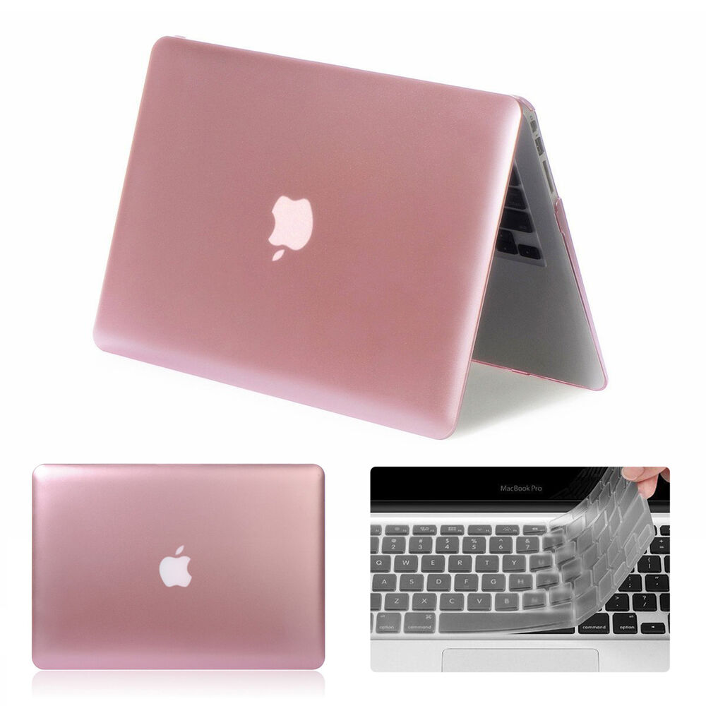 rose gold metallic hard case cover for macbook air 11 13 pro 13 15 retina 12 ebay. Black Bedroom Furniture Sets. Home Design Ideas