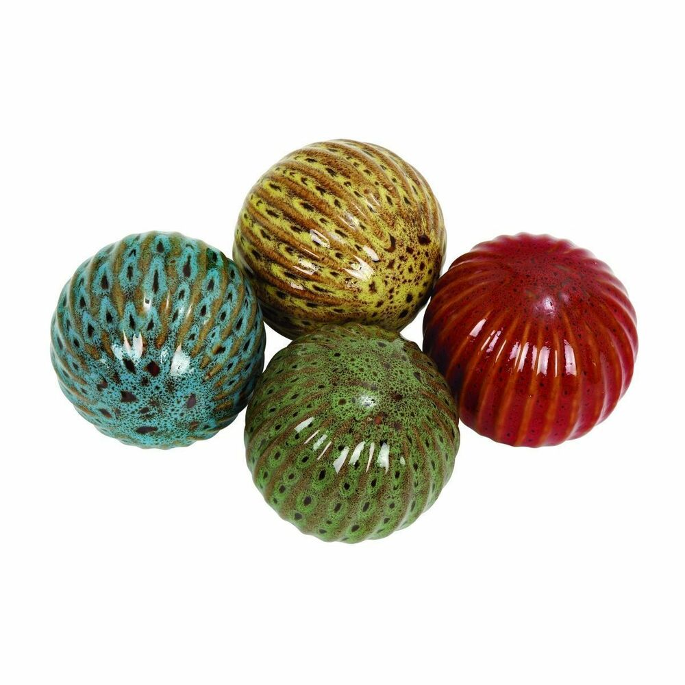 Ceramic inch decorative balls set of ebay