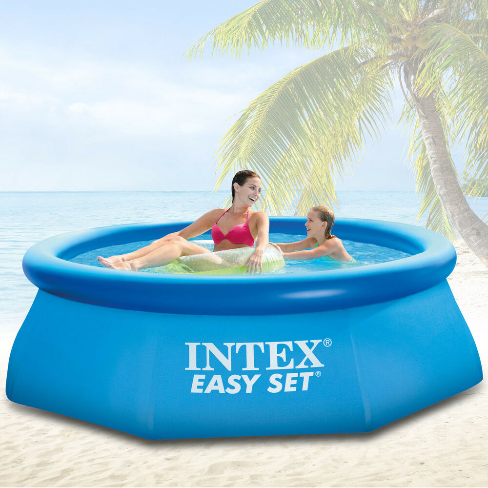 Intex 305x91 cm swimming pool quick up schwimmbecken for Swimmingpool abdeckplane