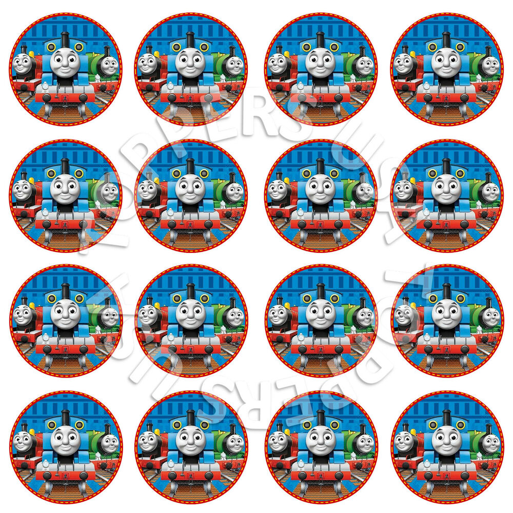 It's just a graphic of Gutsy Free Printable Thomas the Train Cup Cake Toppers
