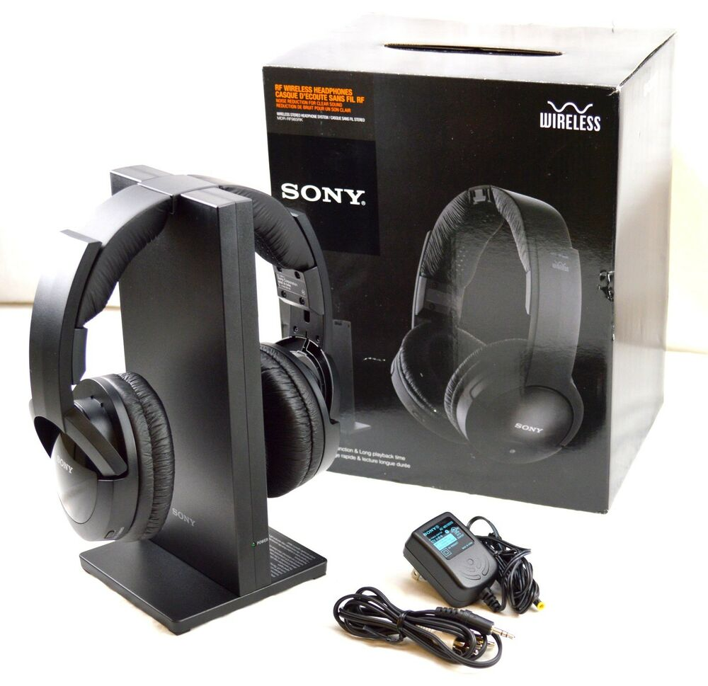 tv headphones wireless. sony mdr-rf985rk wireless rf tv stereo pc universal rechargeable headphones 27242850514 | ebay tv d