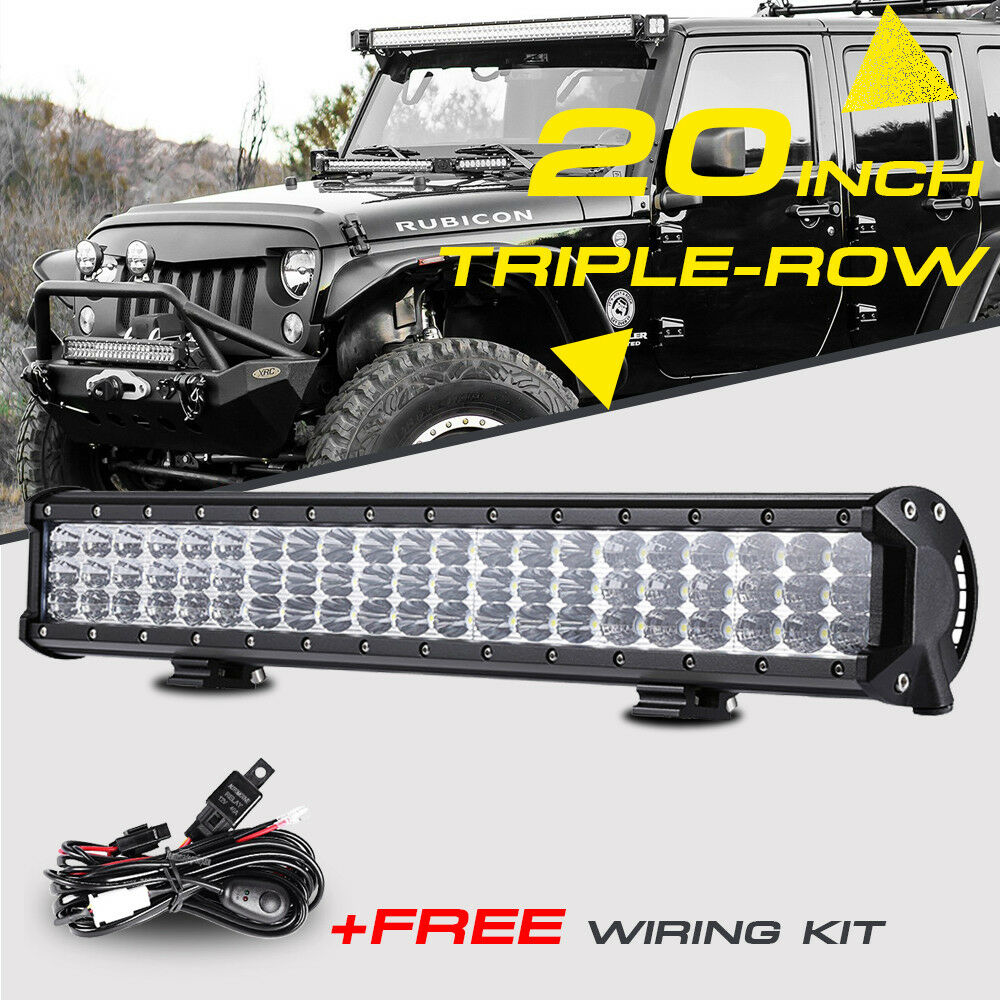 "High Power 200w 20 Inch Jeep Accessories Led Light Bar For: 20""INCH 630W CREE TRIPLE-ROW LED LIGHT BAR COMBO BEAM WORK"