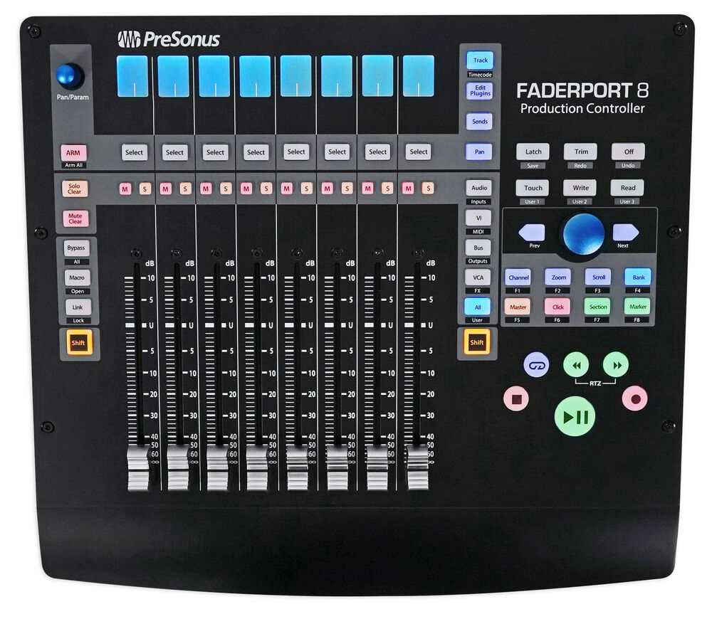 presonus faderport 8 usb 8 channel mix production daw controller mac pc 713803236766 ebay. Black Bedroom Furniture Sets. Home Design Ideas