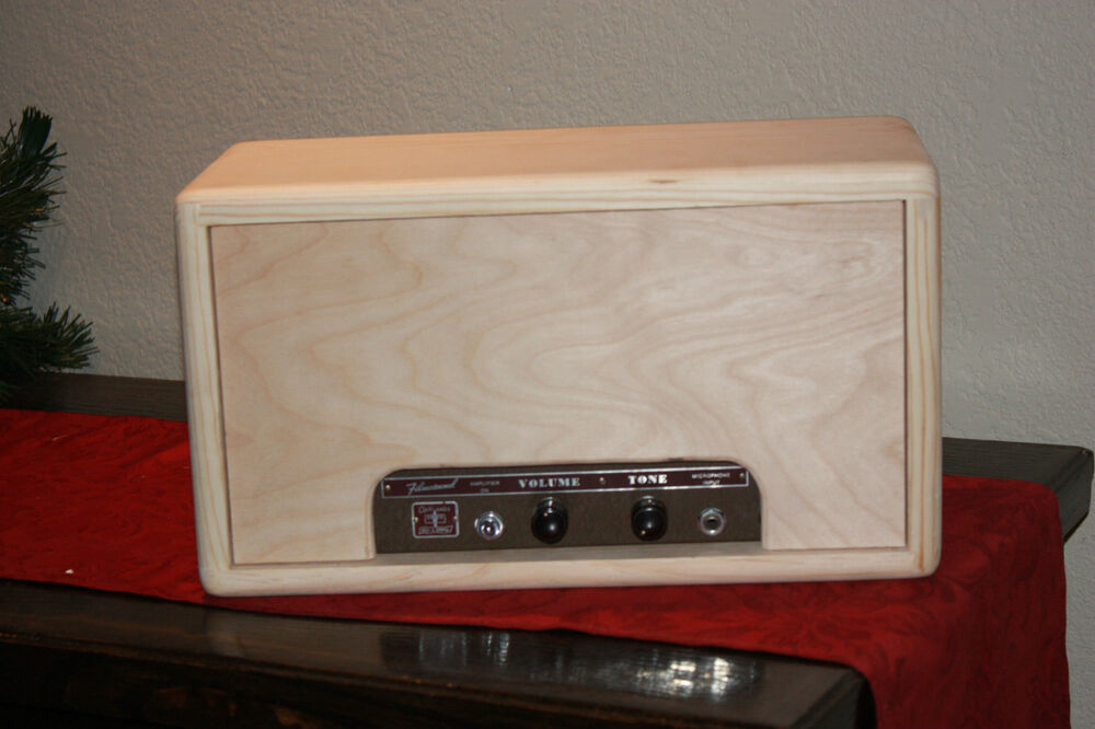 rawcabs filmosound 179 custom empty solid pine head cabinet for vintage tube amp ebay. Black Bedroom Furniture Sets. Home Design Ideas