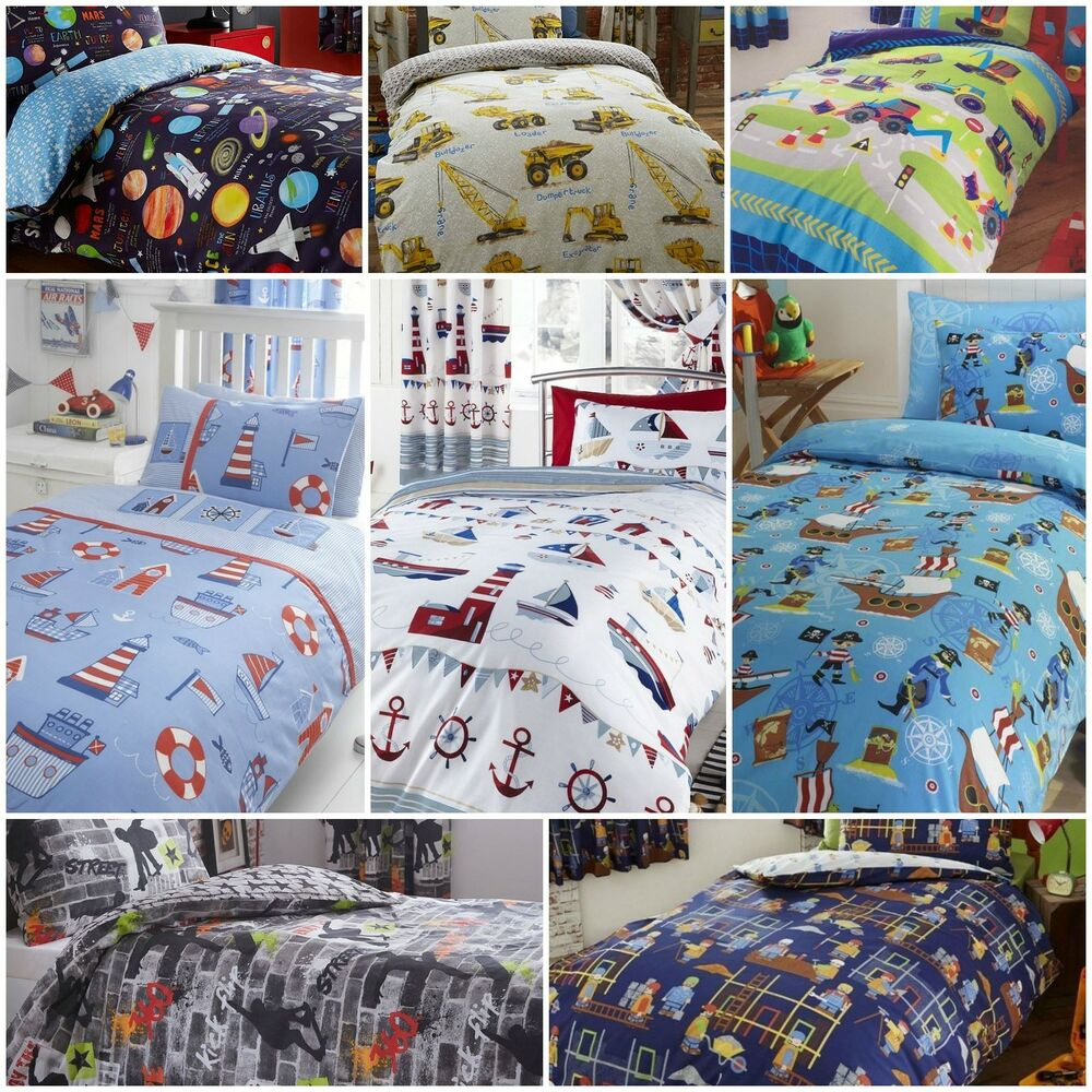 Childrenu0027s Kids Boys Duvet / Quilt Cover Bedding Sets OR Matching Curtains