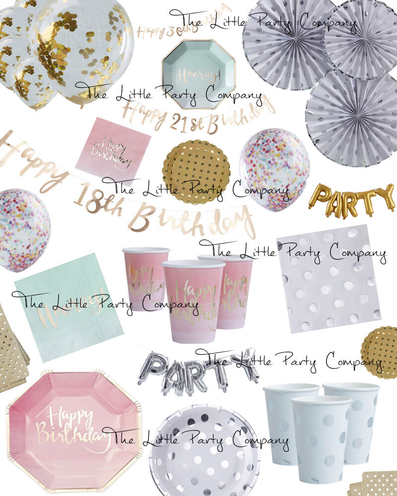 Pick And Mix Girls Birthday Party Supplies 16th 18th 21st
