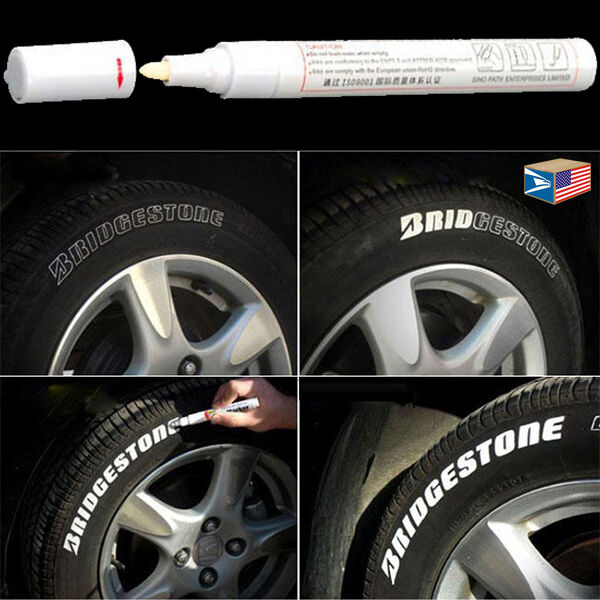 Tire lettering white paint pen whitewall sidewall letter for How to blackout white letter tires