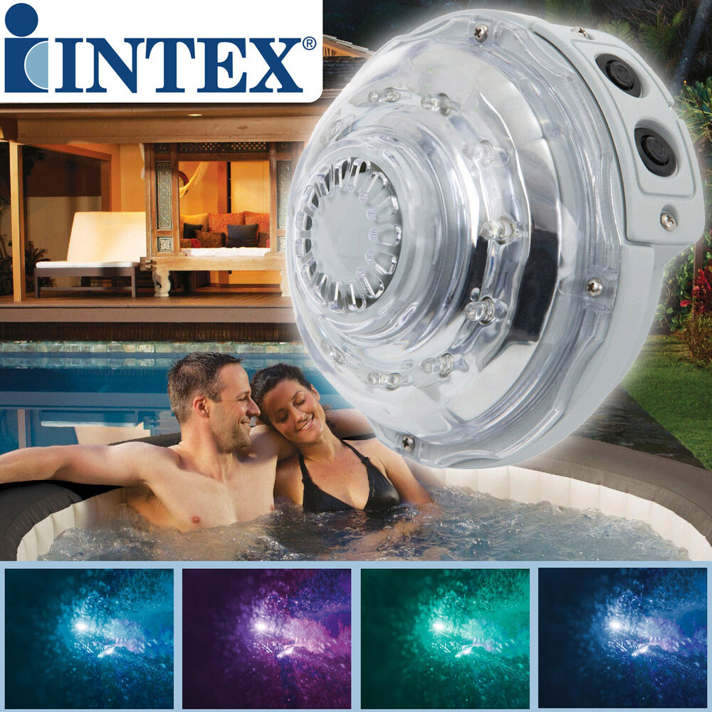 intex led licht f r whirlpool led licht beleuchtung 5 farben spa pool ebay. Black Bedroom Furniture Sets. Home Design Ideas