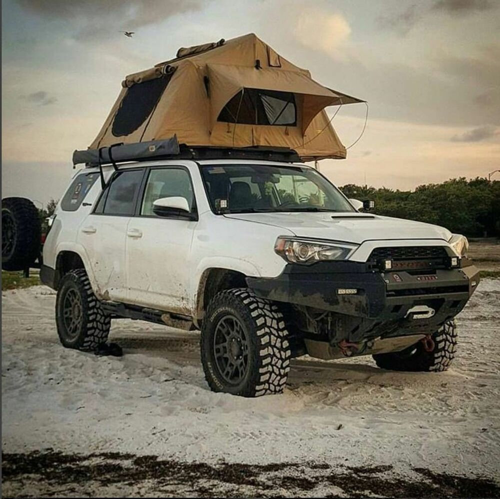 new overland roof top camping tent with ladder jeep off road truck camping 4x4 ebay. Black Bedroom Furniture Sets. Home Design Ideas